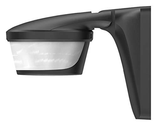Theben 1010611 Luxa P300 BK Bewegungsmelder für Wand- oder Deckenmontage, Lichtsteuerung, 300°, max. 16 m, schwarz, IP 55