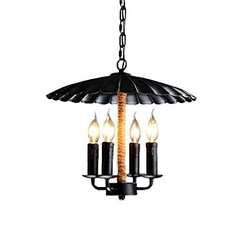 DXX-HR Candelabro nórdico Estilo creativo de la lámpara - rústico de la vendimia del hierro labrado/tapa de la lámpara / 4 Titular de la lámpara/Negro