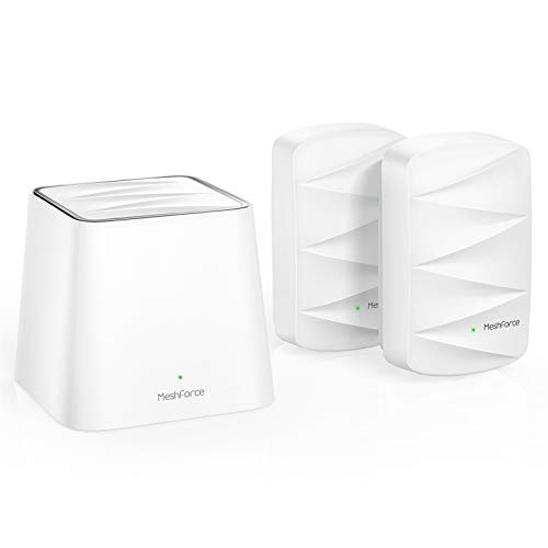 MeshForce Whole Home Mesh WiFi System M3 Suite (1 WiFi Point + 2 WiFi Dot) - Dual Band WiFi System Router Replacement and Wall Plug Extender - High Performance Wireless Coverage for 5+ Bedrooms Home