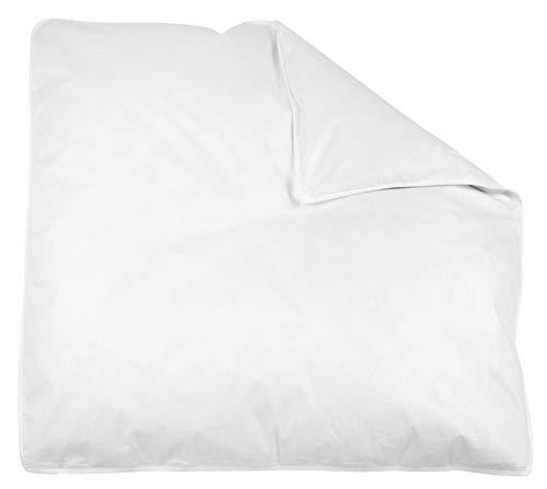 ZOLLNER couverture bébé 70% plumes / 30% duvet, env. 80x80 cm, blanc, 350g