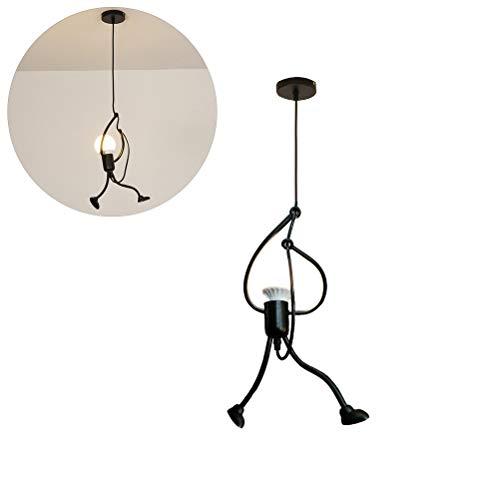 Kylewo Lámpara de Techo LED Vintage - E27 Hierro Diseño de Dibujos Animados para Personas pequeñas Lámpara Colgante para niños Dormitorio Sala de Estar Vestíbulo Cocina - Lámpara no incluida