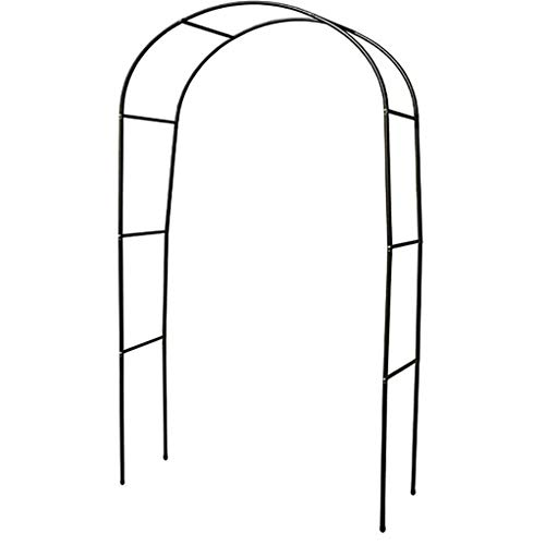 Large Black Metal Garden Arch,Flower Stand Outdoor Balcony Wall Wrought Iron Leisure Lightweight Metal Arch for Wedding Garden Roses Climbing Plants Decoration