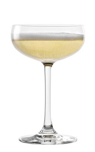 Stölzle Lausitz 273 00 08, Sektschale Champagner Schale, spülmaschinenfest, 23 cl, 6er Set, bleifreies Kristallglas