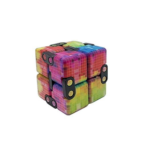 BIUDUI Cubo De Rompecabezas ABS Plástico Cubo Infinito Rompecabezas Flip Cube Fidget Bloques Mágicos Colorido A Juego Cubo Pequeño Inquietarse Cubo Infinito Juguete para Niños Adultos