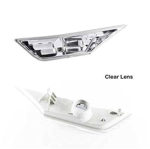 N\A Scheinwerferglas, Signallichter Lampe for X 16-18 Eckparkplatz Light Auto Seitenmarkierungen Objektiv Switchback geräuchert/Bernstein/weiß (Farbe : White)