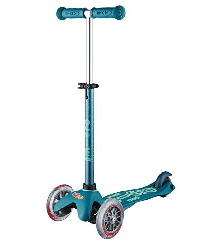 Micro Mini Deluxe 3-Wheeled, Lean-to-Steer, Swiss-Designed Micro Scooter for Kids, Ages 2-5 - Ice Blue…