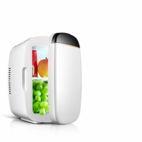 GBT 6 litros Coche frigorífico Coche Doble Uso Mini Mini refrigerador pequeño hogar Mini-Nevera,Blanco,6L