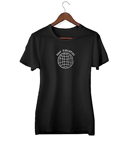 ASAP Worldwide Globe Earth Travel_KK018977 Shirt T-Shirt Tshirt Für Frauen Damen Gift for Her Present Birthday Christmas - Women's - Medium - Black