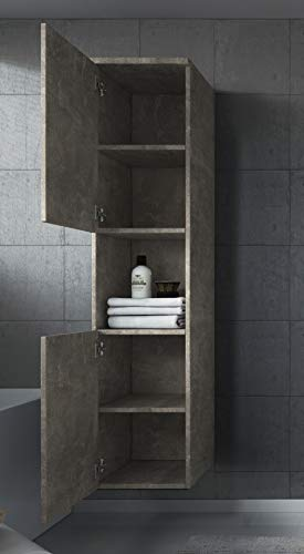 Badplaats B.V. Badezimmer Schrank Montreal 131 cm – Regel Schrank Hochschrank Schrank Möbel 3
