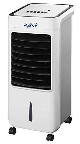 AVANT Aire Acondicionado portatil Climatizador Evaporativo con Ruedas facil de trasladar | Ventilador con oscilación automática, 80 Watios, 3 Velocidades, Deposíto de Agua 6L y Temporizador | Blanco.