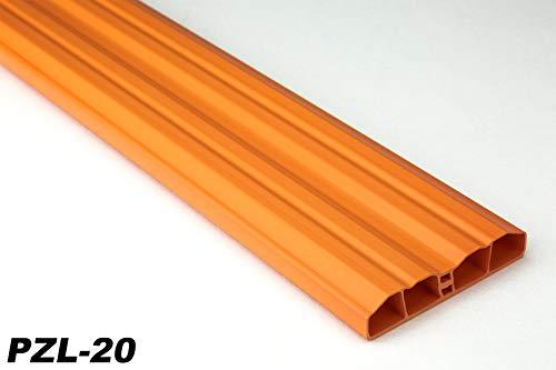 Zaunlatten Sparpaket PZL-20 | widerstandsfähiges Hart-PVC | Kunststoffzaun | Balkonbretter | pflegeleicht | orange bunt | 80 x 16 mm | Hexim | 30 Meter