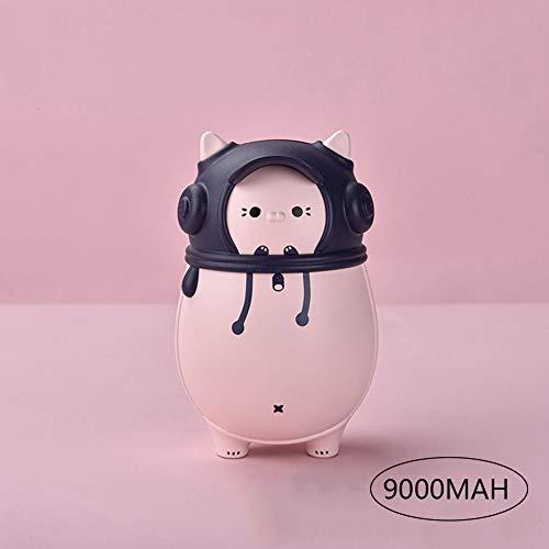 CSPFAIQL USB Chauffe-Mains Portable Rechargeable 7200mAh-9000mAh Chaufferette Main Power Bank 2 en 1 Électrique Poche Réchauffeur de Mains pour Enfant/Femmes en Hiver,C-pink-9000mAh
