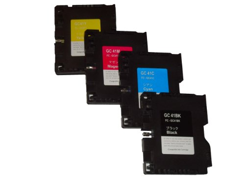 vhbw 4X Ersatz Tintenpatrone Druckerpatrone als Set für Ricoh Aficio SG 2010, 2010L, 2100, 2100N, 3100, 3100SF, 3110, 3110DN, 3110SNW wie Ricoh GC-41