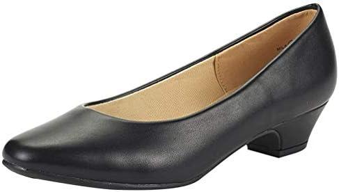 Round toe pumps low heel _image1