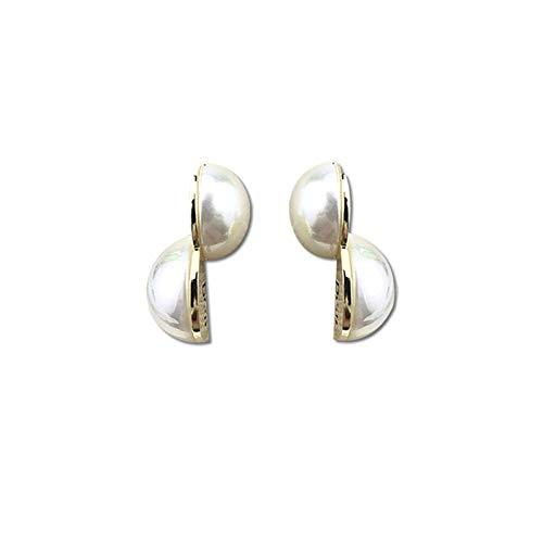 Pendientes de perlas de colores, aguja de plata femenina s925, pendientes de letras de diseño, pendientes de todo fósforo con temperamento