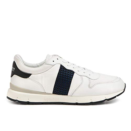 WOOLRICH - Jogger in White Leather and Fabric - W2002404-10