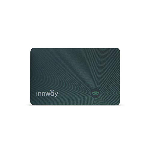 Innway Card - Ultra Thin Rechargeable Bluetooth Tracker Finder. Find Your Wallet, Bag, Backpack, Keys, Laptop, Tablet (Green)