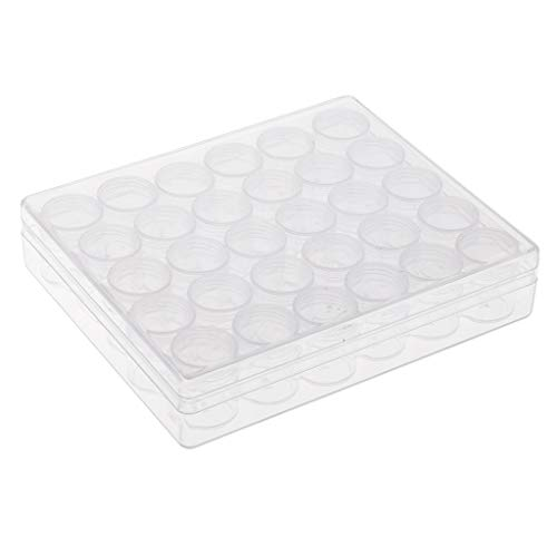 kowaku 30 Clear Small 6g Grams/mL Plastic Jars for Cosmetic Container Pot Cream