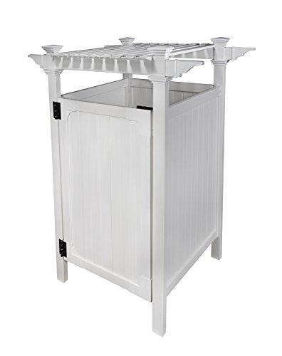 "Zippity Outdoor Products ZP19009 Hampton Outdoor Shower Enclosure, White, 36"" x 36"""
