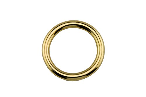 LENNIE 10x Rundring, O-Ring, Messing, Gold, Größe: 25 mm (1