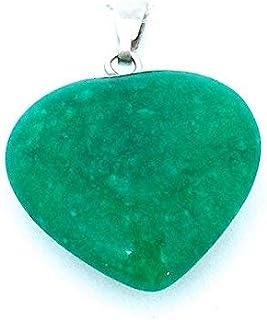 Colgante mineral en forma de corazón, jade de
