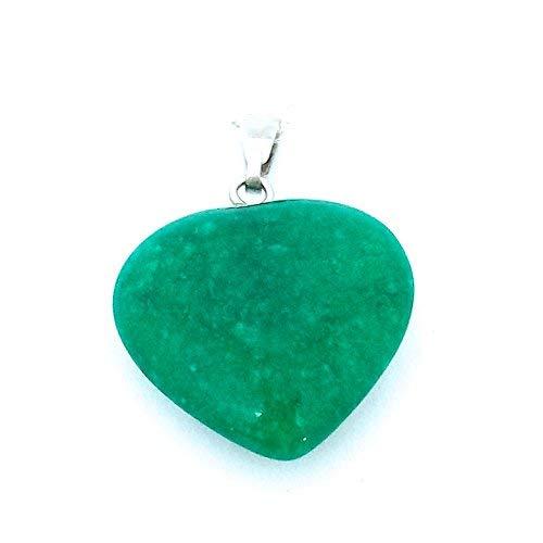Colgante mineral en forma de corazón, jade de China, ideal