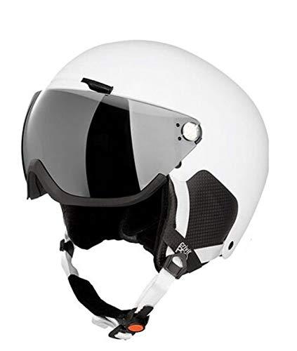 Crivit Skihelm snowboardhelm veiligheidshelm helm helm DIN EN 1077/klasse B contrastversterkend, spiegelgecoat vizier met onbreekbaar polycarbonaat