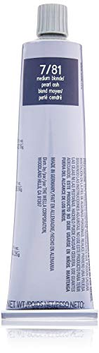Wella Illumina Color Permanent Creme Hair Color 7 81 Medium Blonde-Pearl Ash for Unisex, 2 Ounce