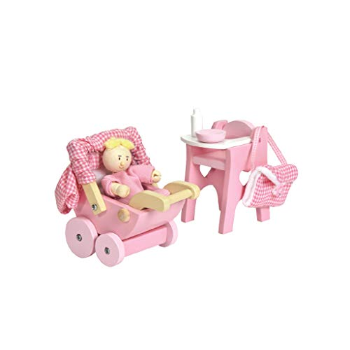 Le Toy Van - Wooden Doll House Nursery Play Set For Dolls Houses | Daisylane Dolls House Furniture Sets - Suitable For Ages 3+