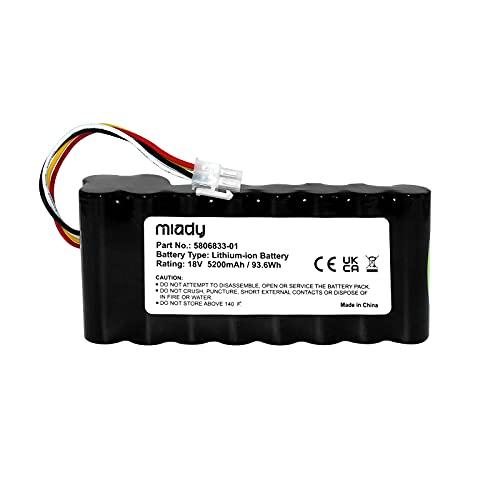 Miady Batterie de rechange pour tondeuse robot (5200 mAh 18 V) compatible avec Husqvarna Automower 320 330X 420 430 430X 440 450X 520 550 remplace 580 68 33-01, etc.