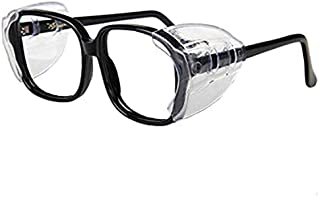 87d1fbae75 Auony - Gafas de seguridad con protectores laterales, 2 pares de  protectores laterales transparentes para