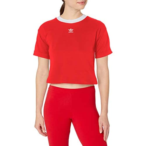 adidas Originals womensGVU47Cropped Top Short Sleeves Top