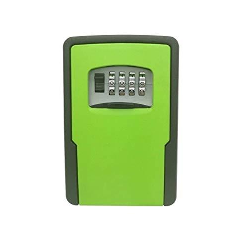 WanuigH Caja Fuerte para Llaves Ajustable de Bloqueo de Teclas Combinaciones de Almacenamiento de Bloqueo Caja de Almacenamiento Llave de la casa Más Confiable (Color : Verde, Size : One Size)