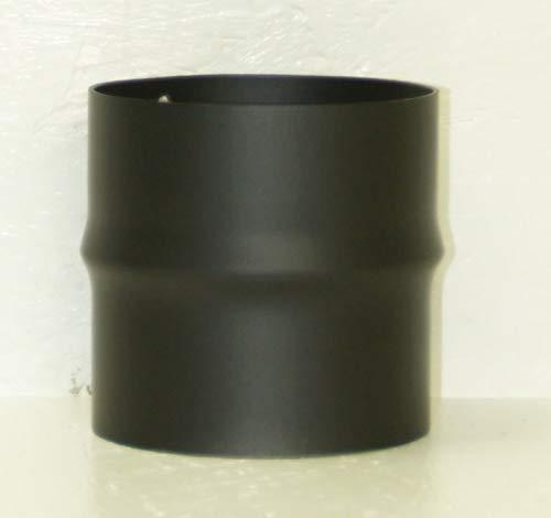 LANZZAS Rauchrohr Ofenrohr Erweiterung Farbe schwarz 120/130 120/150 130/150 150/160 150/180 150/200 160/180 180/200 (Ø 120 mm auf Ø 130 mm)