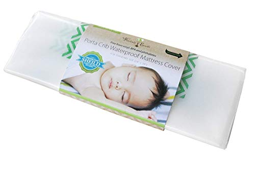 Harlows Earth Porta Crib Waterproof Mattress Cover, Waterproof, Safe Sleep Protection from Toxic Mattress Off Gassing, Impermeable Barrier Between Chemicals and Your Baby