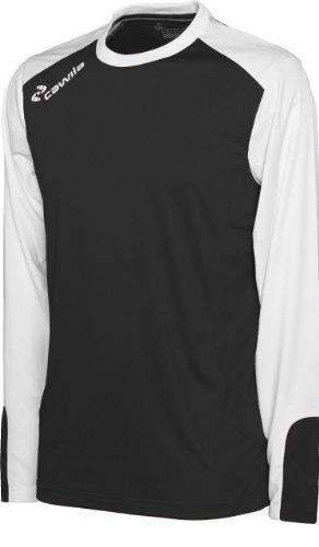 Cawila Trikot Manchester Langarm, Schwarz-Weiß, S