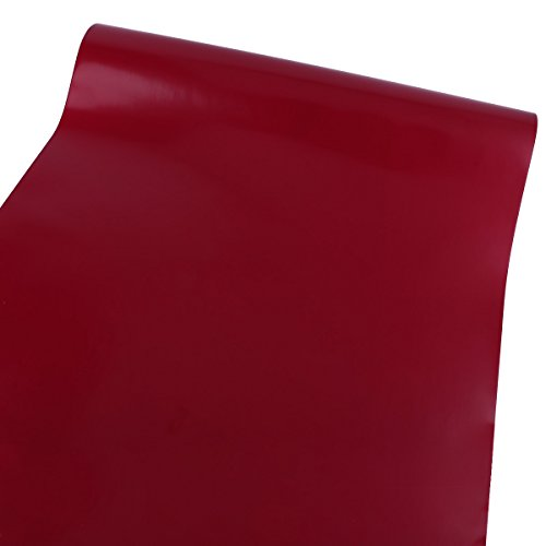Surepromise 61cm Rolle - 10M (Laufmeter) Rot Selbstklebend Möbelfolie Klebefolie Bastelfolie Plotterfolie Schrankfolie Dekofolie Küchenfolie
