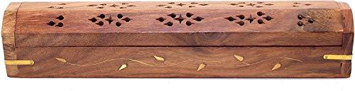 Caja de almacenamiento de madera maciza para incienso con ce