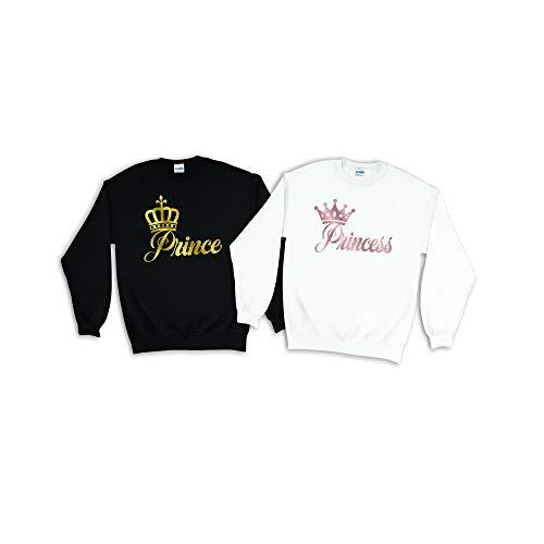 Sudadera King Queen con capucha para parejas, sudaderas a juego, para mujeres, hombres, novios, novias, novios, novias, regalos de cumpleaos personalizados para ella