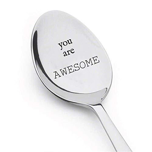 """Löffel mit Gravur """"You Are Awesome"""" – Geschenk für Freunde – niedlicher Löffel – Geschenk für Ihn – Geschenk für Sie – Liebhabergeschenk – Löffelgeschenk # A5"""