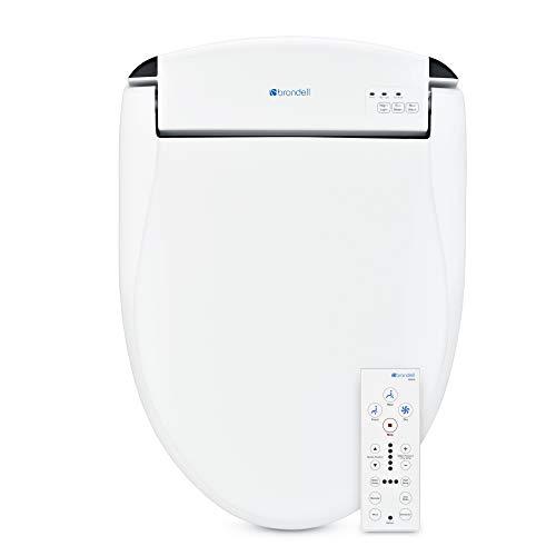 Brondell Swash SE600 Bidet Toilet Seat, Fits Elongated Toilets, White – Bidet – Oscillating Stainless-Steel Nozzle, Warm Air Dryer, Ambient Nightlight