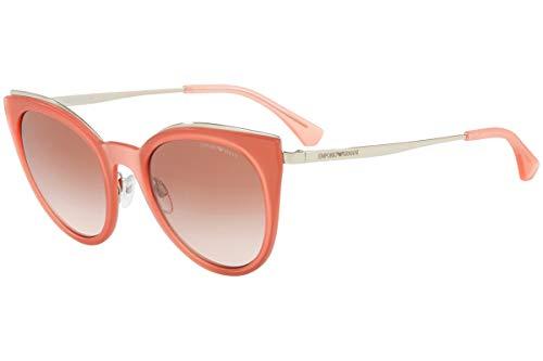 Emporio Armani EA2063 Sonnenbrille Silber Rot Mit Braunem Verlaufsglas Gläsern 52mm 321613 EA 2063