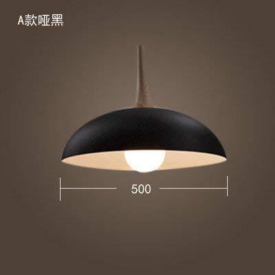 ERD Gzz Deng Home buitenverlichting hanglampen moderne eenvoudige Japanse stijl retro industriële verlichting restaurant bar slaapkamer kantoor hout zwart 50 cm 12 Watt LED