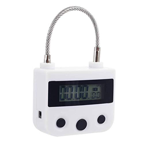 Hsug Zeitschloss Zeitschalter Vorhängeschloss-Kombinationsschloss, Wasserdichtes USB-Timing-Sicherheitsschloss - Schwarz