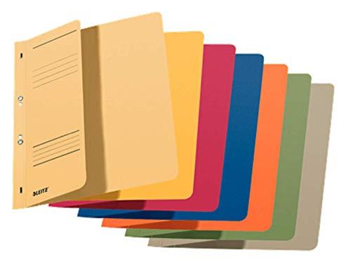 Leitz Ösenhefter (1/2 Vorderdeckel, A4, kfm. Heftung, Manilakarton, sortiert) 5 Stück