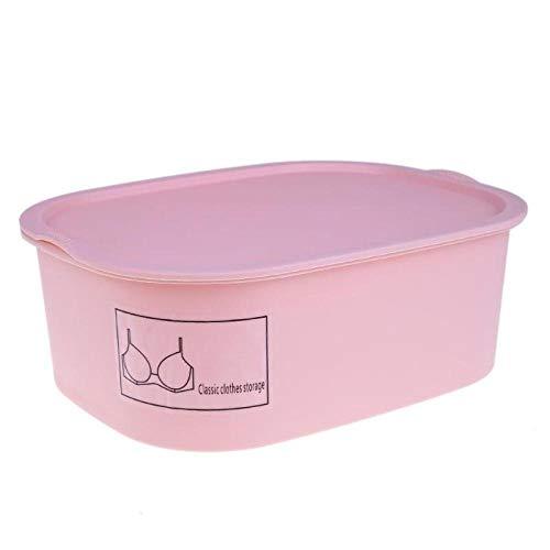 2 kleuren plastic beha organisator sok opbergdoos thuis ondergoed houder lade kast organisator dozen voor ondergoed sjaals sokken-Roze