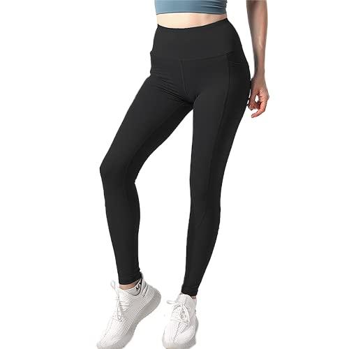 QTJY Pantalones de Yoga Fitness para Mujeres, Flexiones, Leggings de Secado rápido para Correr, Pantalones Deportivos de Cintura Alta para Levantar la Cadera BM