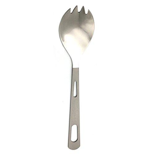 2en 1cuchara y tenedor ultraligero 15,4G titanio tenedor cuchara cubiertos para camping senderismo Picnic Viajes Deportes al aire libre