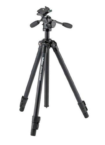 Velbon Sherpa 6350D - Trípode (67 cm, 2,27 kg, Aluminio, Negro)