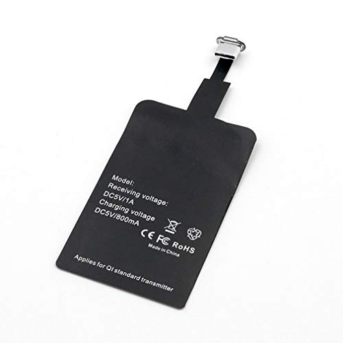 Adaptador de Cargador inalámbrico Receptor inalámbrico Tipo-C/Android/Interfaz Apple Negro Tipo-C